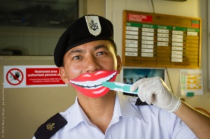 Photo Credit Justine Forrest, RR3622 Smilies Images - Keshar Khand (NPL) Ship Security Guard